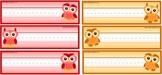 Owl Themed Name plates/Name tags