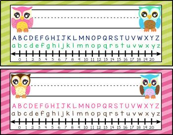 Owl Themed Nameplates
