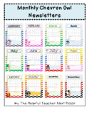 **Editable** Owl Themed Newletters for the 2018/2019 School Year
