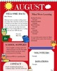 Owl Theme - Newsletters - Monthly Themed - August - Back To School