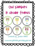 Owl Themed Number Labels