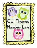 Owl Themed Number Line