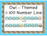 Owl Themed Number Line 1-100