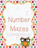 Owl Themed Number Mazes