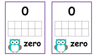 Owl Themed Number Posters with Ten Frames