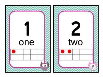 Owl Themed Number line/ten frame