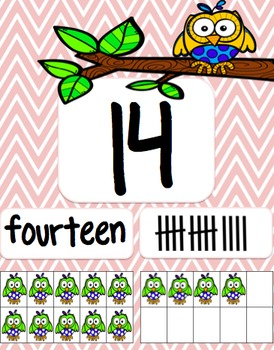Owl Themed Number posters 1-20