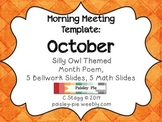 MORNING MEETING: Themed Meeting- OWL/OCTOBER