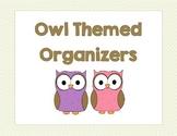 Owl Themed Organizers