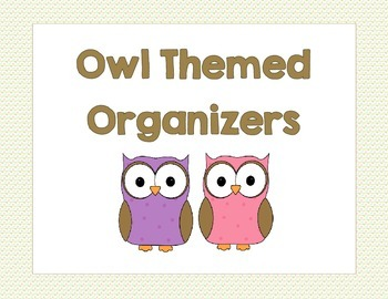 Owl Themed Organizers