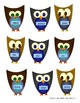 Owl Themed Parts of Speech File Folder Game