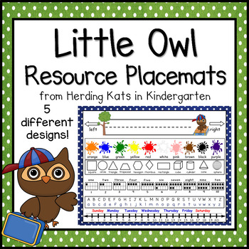 Owl Themed Resource Placemats