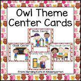 Owl Themed Center Cards