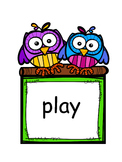 Owl Themed Pre-Primer Sight Word Cards
