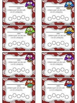 Owl Themed Punch Card Pack