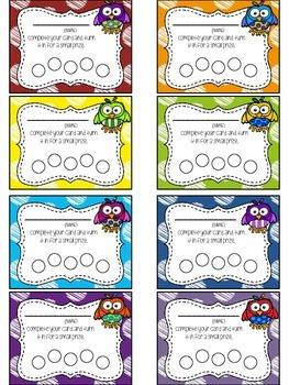 Owl Themed Punch Card Sampler