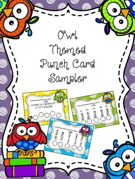 Owl Themed Punch Card Sampler