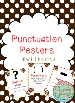 Owl Themed - Punctuation Posters