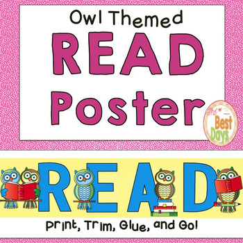 Owl Themed READ Poster
