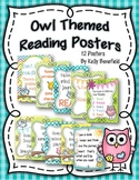 """Owl"" Themed Reading Motivational Posters Classroom Decor"