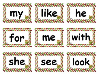 Owl Themed Reading Street High Frequency Words Units 1-5 Kindergarten