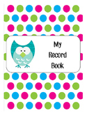 Owl Themed Record Book