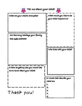 Owl Themed Record Keeping Templates