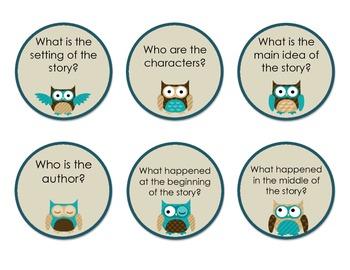 Owl Themed Retelling Sticks