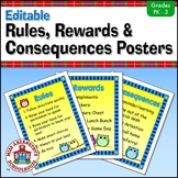 Owl-Themed Rules, Rewards, and Consequences Posters Freebie