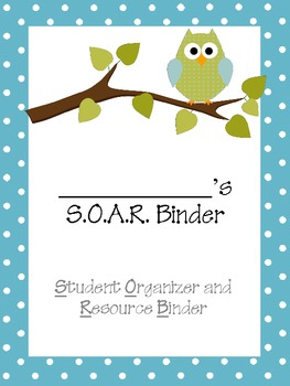 Owl Themed SOAR Organization Binder For Students