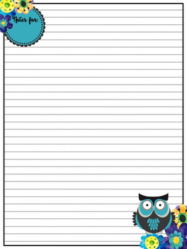 Owl Themed:  School Planner Note Taking Stationary