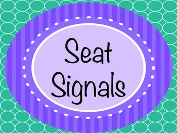 Owl Themed Seat Signals