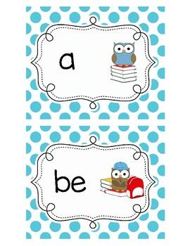 Owl Themed Sight words Flashcards For Kindergarten: