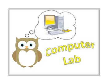 Owl-Themed Special Sign {Computer Lab}