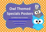 Owl Themed Specials Posters