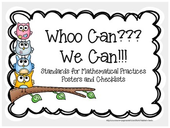 Owl Themed Standards for Mathematical Practices Common Core Posters
