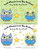 Owl Themed Star Student Certificates