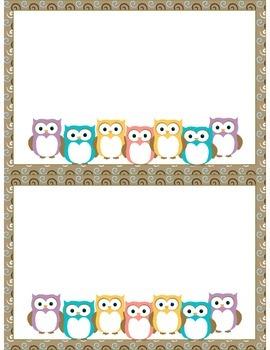 Owl Themed Stationary