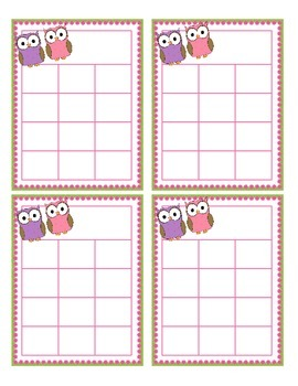 Owl Themed Sticker Charts