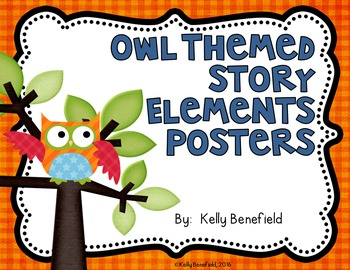 Owl Themed Story Elements Posters