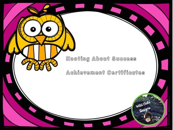 Award Certificates for Back-to-School: Owl-Themed