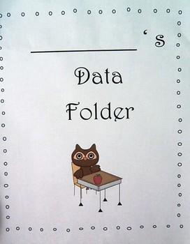 Owl Themed Student Data Folders for Grade 1