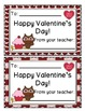 Owl Themed Student Valentine Cards