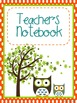 Owl Themed Student and Teacher Binder Covers