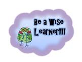 Owl Themed Study Tips Poster Set!