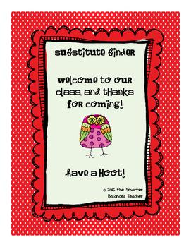 Owl-Themed Substitute Teacher Binder