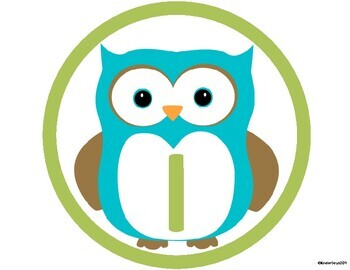 Owl Table Signs