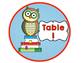 Owl ( Reading Owl) Themed Classroom Decor: Table Signs