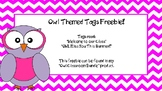 Owl Themed Tags Freebie