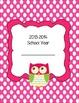 Owl Themed Teacher Binder Cover and Tabs